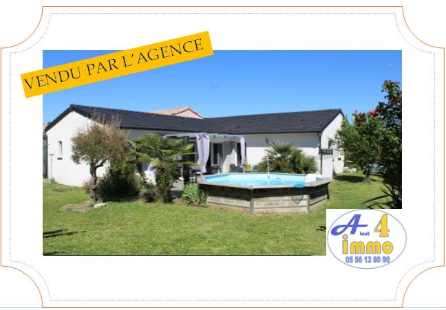 Maison de plain-pied 114 m² – Castelnau-de-Médoc